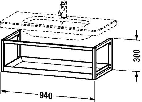 durastyle m bel accessoire ablage wandh ngend ds9873 duravit. Black Bedroom Furniture Sets. Home Design Ideas