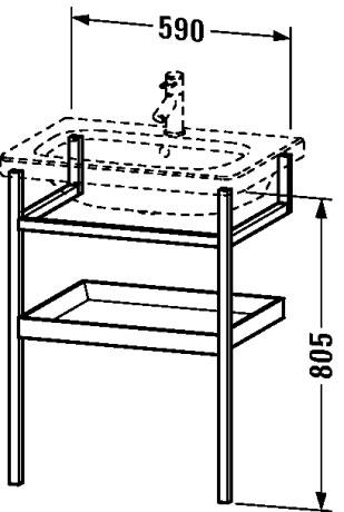 durastyle m bel accessoire handtuchhalter mit ablage ds9881 duravit. Black Bedroom Furniture Sets. Home Design Ideas