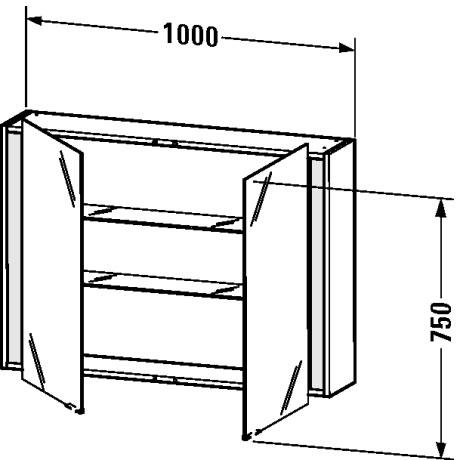 duravit ketho badm bel spiegelschrank kt7532 von duravit. Black Bedroom Furniture Sets. Home Design Ideas